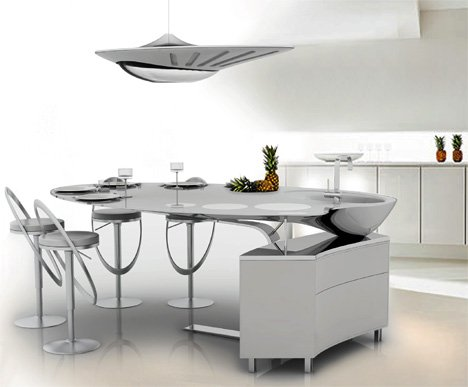 Oniris Futuristic Kitchen Concept by Nelly De Macedo