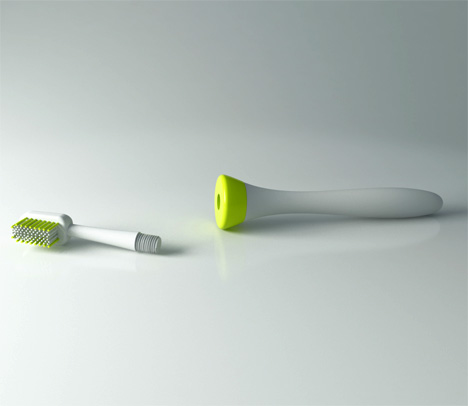 Ultra Violet Sterilized Toothbrush System by Chris Anderson 2