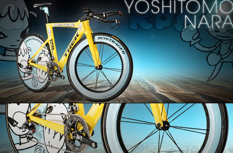 Stages Trek Bikes for Tour de France by Damien Hirst Marc Newson and Yoshitomo Nara 05