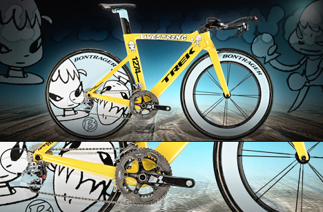 Stages Trek Bikes for Tour de France by Damien Hirst Marc Newson and Yoshitomo Nara 06