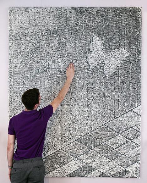 Miranda Wall Mural by Giles Miller