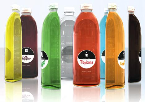 1/2 PROJECT, Bottle Design by Sungjoon Kim & Jiwon Park