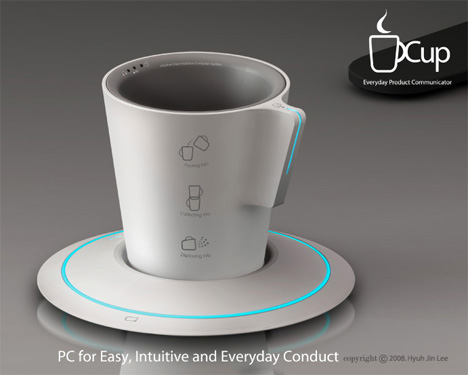 stylish design ideas unique coffee cups. Like I said earlier  technology has hit cup design as well Get you daily dose of info via The Cup My runneth over with pics from YD Ten Creative and High Tech Cups Mugs Concepts Yanko Design