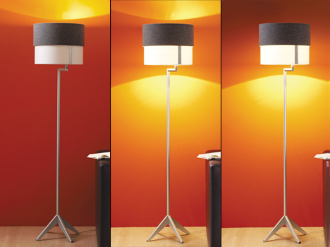 Lumix functional floor lamp by Oliver Schick