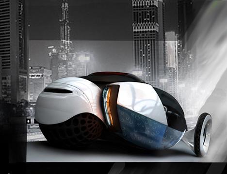 Bio Top Self-Charging Vehicle Concept by Luis Pinheiro de Lima