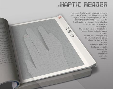 Haptic Reader For The Blind by David Lee, Yuna Kim & Hansub Lee