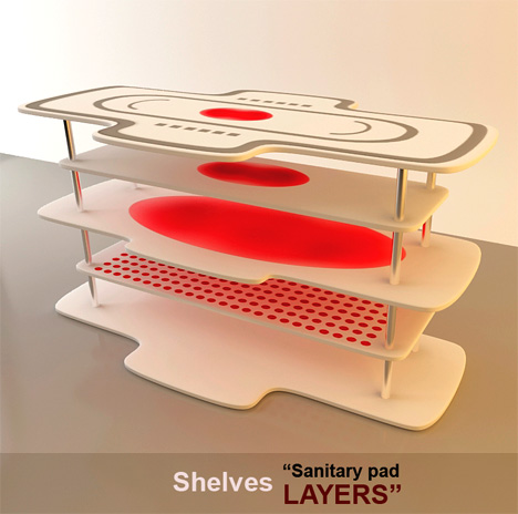 Hygienic Sanitary Pad Layers Table and Sanitary Tampon USB by Andy Kurovets