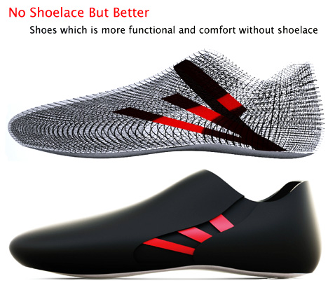 No Shoelace Shoe Design by Seon-Keun Park & Jin-Sun Park