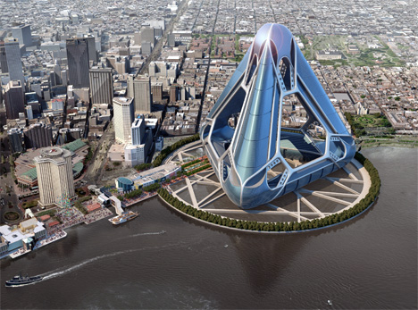 New Orleans Arcology Habitat or NOAH by E. Kevin Schopfer in collaboration with Tangram 3DS