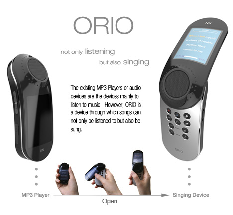 ORIO Karaoke Style MP3 Player by Jinsun Park & Seonkeun Park