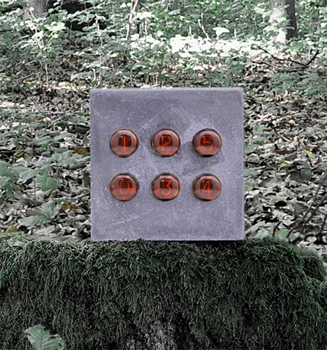 Nixie Concrete Clock by Daniel Kurth