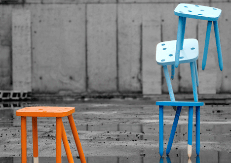 Funstackable Stools by Hafsteinn Juliusson