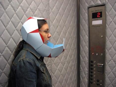 Helmet to Hear Oneself Speak by Jessica Frelinghuysen