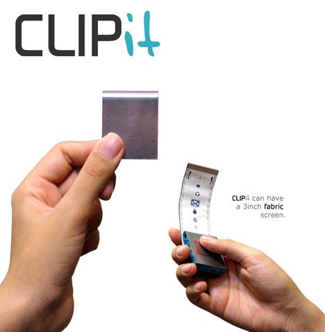 Nokia CLIPit Concept Mobile Phone by Ziba Hemmati, Mohammad Zamani, Mir Kazem khalifezadeh, Rasul Shokrani & Ali Khajuee
