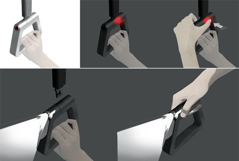 Emergency Handle Light For Trains by Dohyun Ryu, Junghyun Joo, Kyungyoung Lee & Taehong Park