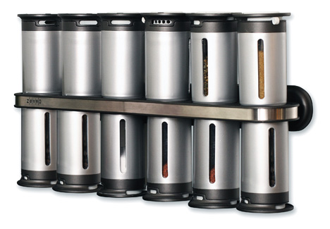 Zero Gravity Magnetic Spice Rack & Magnetic Spice Stand by Zervo