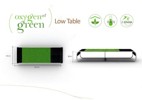Oxygen of Green Low Table by Devon Mingling Wang