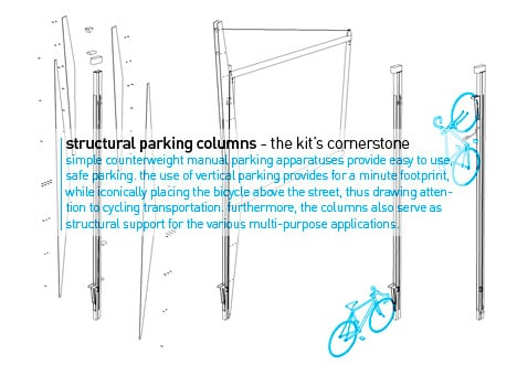Long Term Bicycle Parking Stations by Yinnon Lehrer