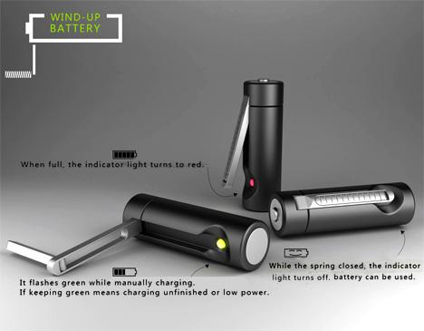 Wind Up Battery by Qian Jiang