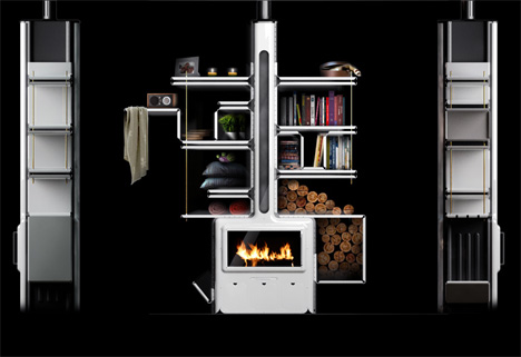 Vulcan Stove Fireplace by Arthur Senant