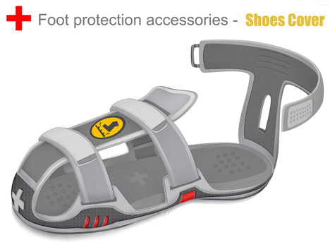 Braun Post-Disaster Emergency Foot Protective Accessory by Huang Zheng