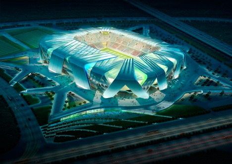 Dalian Football Stadium by Ben van Berkel / UNStudio