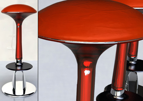Mustool mushroom shaped stool by Gray Goh Szjin