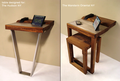 End Table Gadget Charging Station For Hotels by Spencer Schimel