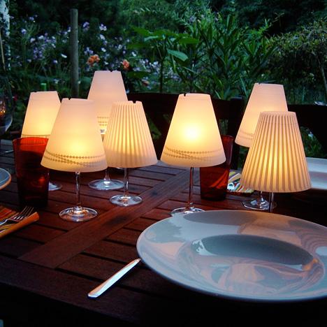 Gorgeous Helen Wine Glass Lampshades by Anke Rabba & Katrin Kuchenbecker for Dekoop