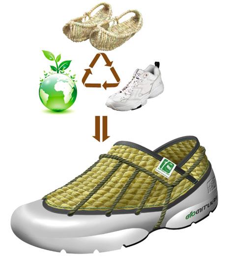 Bio Mituri straw sneakers by HoDong Sung