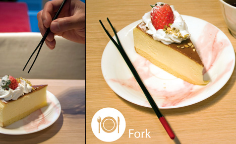 Chopork - Chopstick Fork Design by Yoonsang Kim