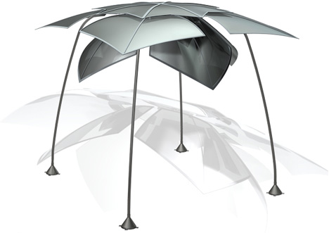 Heat Reflection Canopy by Russell Zoran Corder