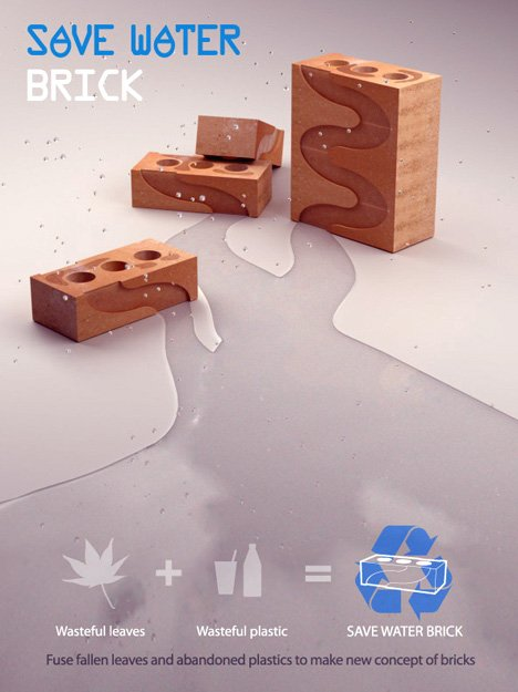 Save Water Brick Design by Jin-young Yoon & Jeongwoong Kwon
