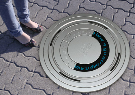 Eco Sign – Electronic Manhole Cover For Directions by Cheolyeon Jo & Youngsun Lee