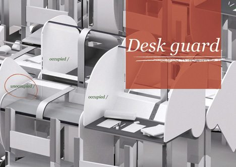 Desk Guard Library Desk System by Choi Minaa