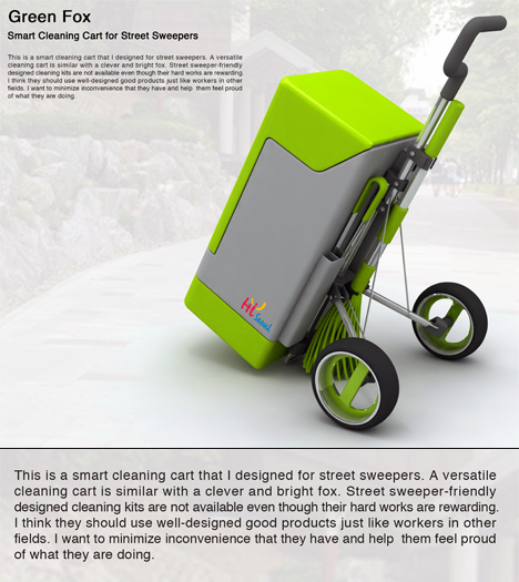 Green Fox Street Cleaning Kit by Youn-il Lee