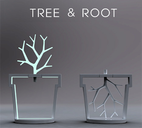 Tree & Root Lamp by Kitae Pak