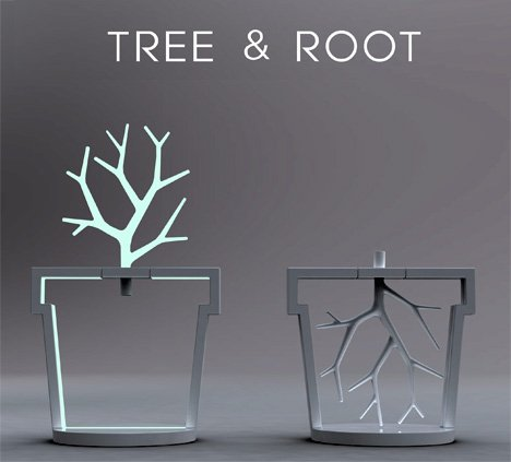 Tree & Root Lamp by Kitae Pak