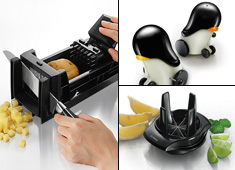 Food Dicer, Lemon Slicer, Robot Penguins = WIN
