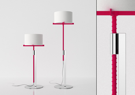 Screw Me adjustable height lamp by Jonathan Rowell