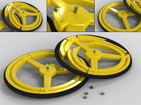 Anti-Theft Collapsible Bike Wheel by Carmond Lai