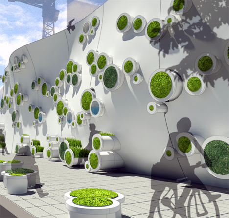 Symbiotic Green Wall by Kooho Jung & Hayeon Kelly Choi