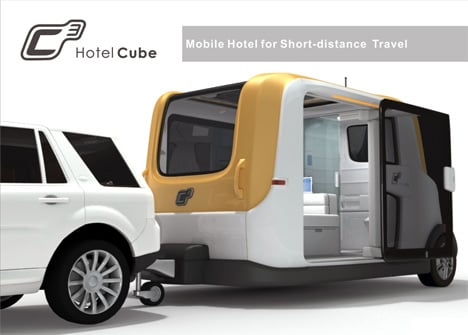 C3 Hotel Cube - Mobile Hotel for Short-distance Travel by Jianbo Huang & Ting Zhao
