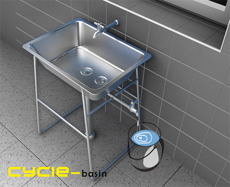 Cycle-Basin, Recycling Water Basin by Jie Hu, Hanwu Lin, Ran An, YuanFeng & Xianjing Zhang