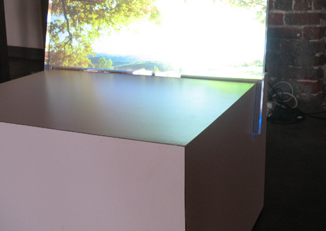 Aeon projected image furniture concept by Adric Henkel