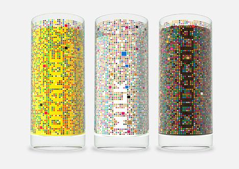 Cipher Drinking Glass by Damjan Stanković
