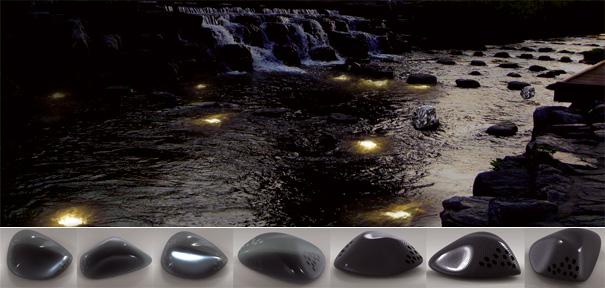 Luna Piedra Hydro Powered Illumination For Cheonggyecheon by Yichun Chuang