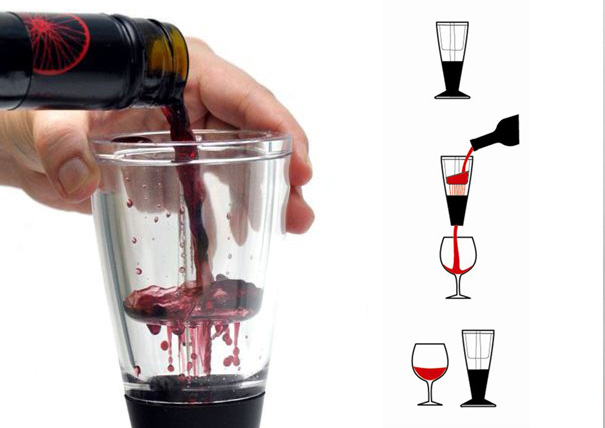 Vino Arielle wine aerator by LCMS Consulting