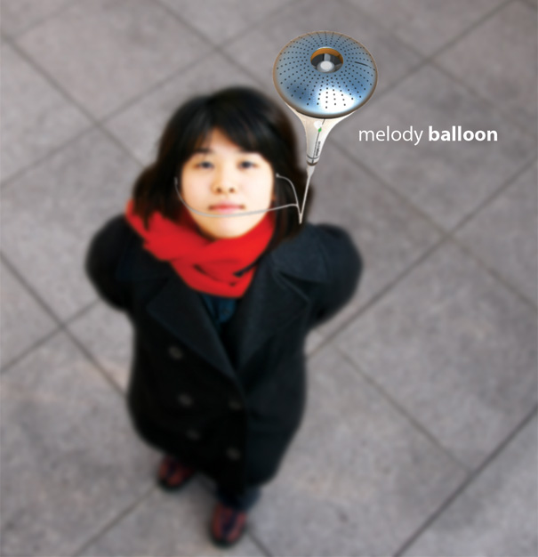 Melody Balloon Flying MP3 Player by Yoonsang Kim
