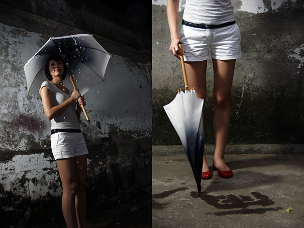 Rain Brush Umbrella For Graffiti by Liu Hsiang-Ling